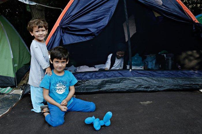 Παιδιά προσφύγων στο Πεδίον του Άρεως