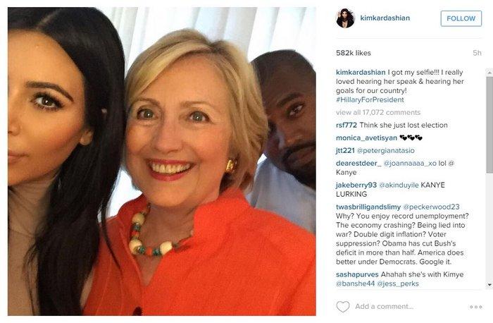 Καρντάσιαν ψηφίζει Χίλαρι! Selfie που σπάει το internet