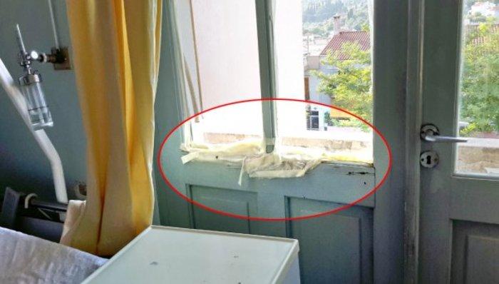 Πλημμύρισε το νοσοκομείο Μυτιλήνης - Έβαζαν λευκοπλάστ στα παράθυρα video