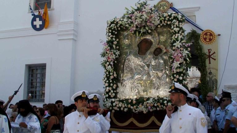 Αποτέλεσμα εικόνας για Η Παναγία της Εκατονταπυλιανής