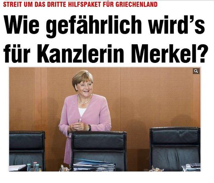 Bild: Φόβοι για 120 «όχι» στο μνημόνιο από βουλευτές της Μέρκελ