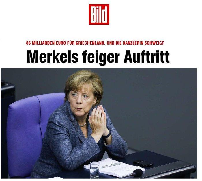 Επίθεση της Bild εναντίον Μέρκελ: Είναι δειλή