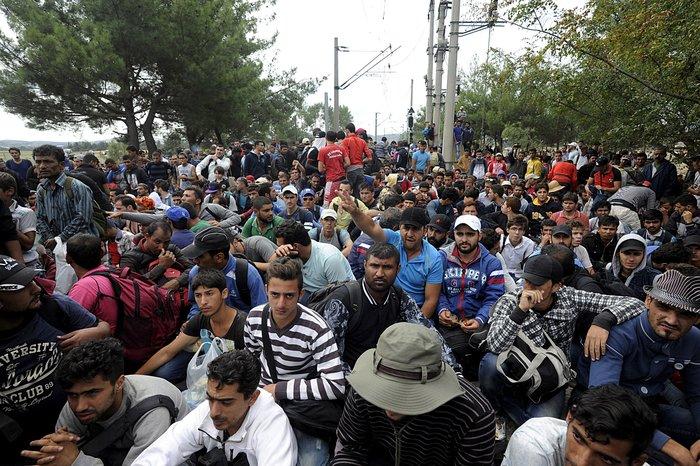 Δακρυγόνα κατά των μεταναστών στα ελληνοσκοπιανά σύνορα - εικόνα 10