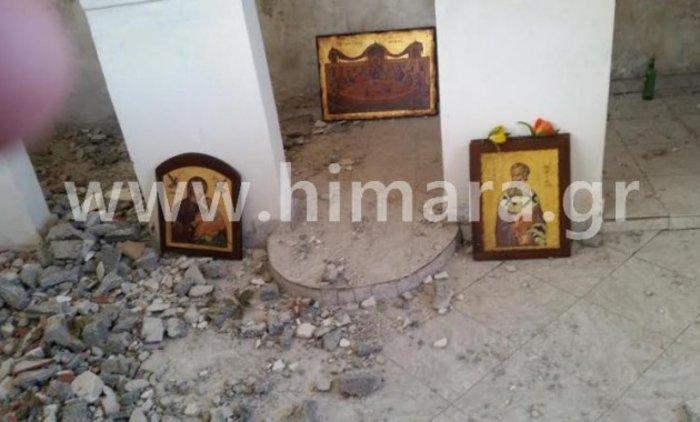 Πρόκληση! Γκρεμίζουν ορθόδοξο ναό στην Χειμάρρα [Φωτογραφίες] - εικόνα 2