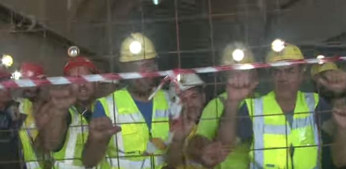 Σκουριές:Μεταλλωρύχοι κλείστηκαν σε στοά στο μεταλλείο χρυσού