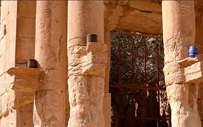 Φωτογραφίες- σοκ από την καταστροφή του ναού στην Παλμύρα - εικόνα 2
