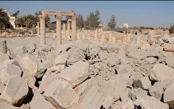 Φωτογραφίες- σοκ από την καταστροφή του ναού στην Παλμύρα - εικόνα 3