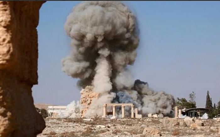 Φωτογραφίες- σοκ από την καταστροφή του ναού στην Παλμύρα - εικόνα 4