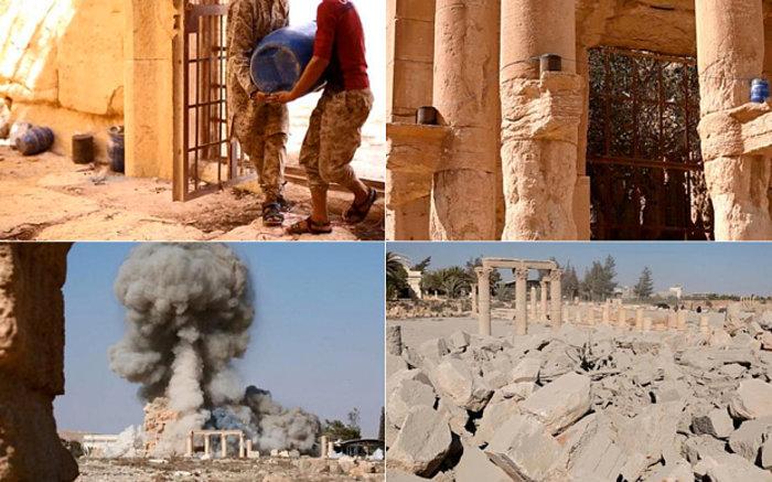 Φωτογραφίες- σοκ από την καταστροφή του ναού στην Παλμύρα - εικόνα 5