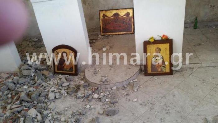 Αλβανική πρόκληση.Γκρέμισαν τον ορθόδοξο ναό στη Χιμάρα - εικόνα 2