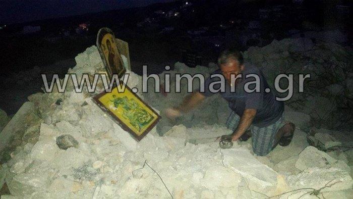 Αλβανική πρόκληση.Γκρέμισαν τον ορθόδοξο ναό στη Χιμάρα - εικόνα 3