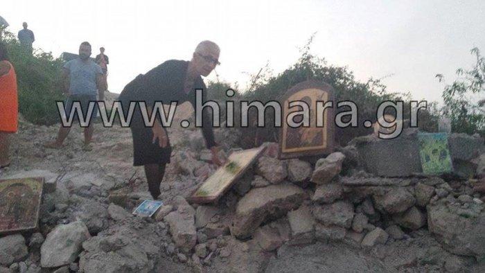 Αλβανική πρόκληση.Γκρέμισαν τον ορθόδοξο ναό στη Χιμάρα - εικόνα 6