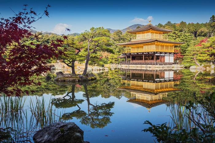 Στο Κιότο της Ιαπωνίας το Golden Pavilion ...