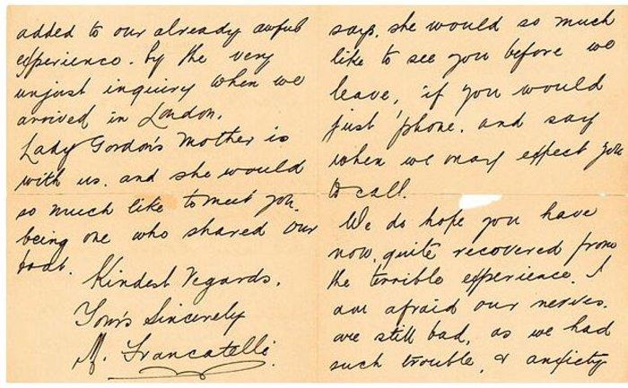 Σε δημοπρασία σημείωμα αριστοκράτη που έδειξε «δειλία» στον Τιτανικό - εικόνα 3