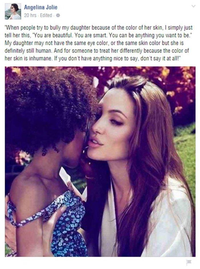 Η ανάρτηση της Τζολί με την κόρη της