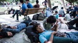 Καταυλισμός μεταναστών η Πλατεία Βικτωρίας