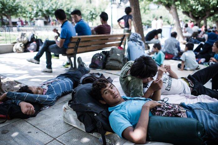 Καταυλισμός μεταναστών η Πλατεία Βικτωρίας - εικόνα 4