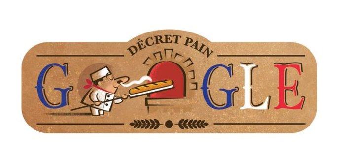 Το doodle της Google: Τα γενέθλια της μπαγκέτας! Εγινε 22 ετών