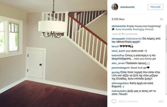 Η Αλέκα Καμηλά μας δείχνει τη νέα ζωή στην Αμερική-Τι ανέβασε στο instagram - εικόνα 2