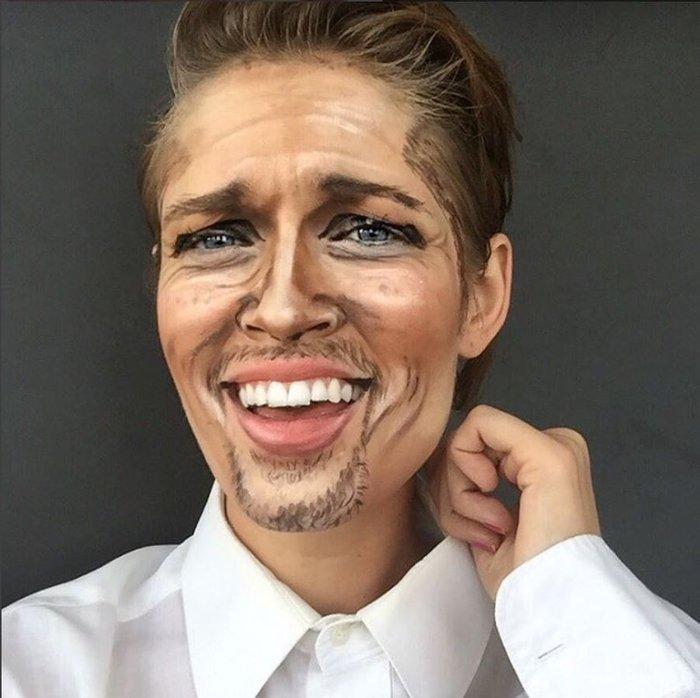 Η τρομακτική δύναμη του μακιγιάζ μέσα από 20 μεταμορφώσεις μιας γυναίκας - εικόνα 9