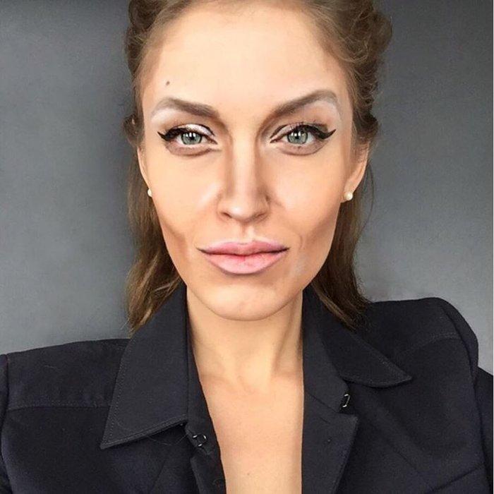 Η τρομακτική δύναμη του μακιγιάζ μέσα από 20 μεταμορφώσεις μιας γυναίκας - εικόνα 10
