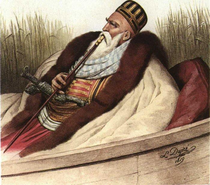 Αλή Πασάς, λιθογραφία του L. Dupre
