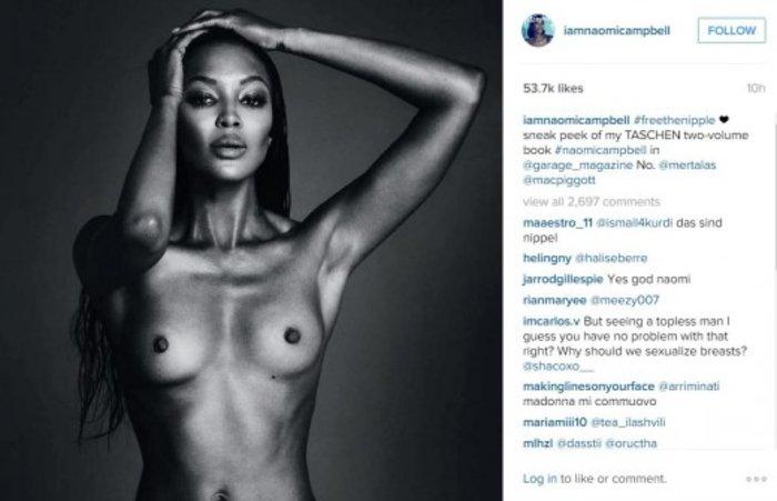 H Ναόμι Κάμπελ τα βάζει με το Instagram! Γυμνή πρόκληση
