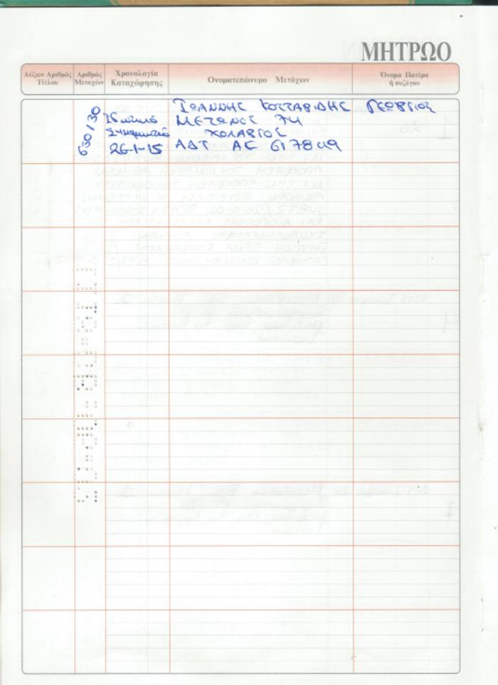 Ακυρη η μεταβίβαση των μετοχών Φλαμπουράρη με ιδιωτικό συμφωνητικό - εικόνα 7