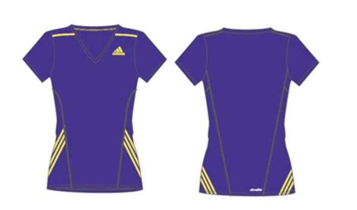 To τεχνικό Τ-shirt της adidas αποκλειστικά σχεδιασμένο για τις Ladies runners