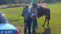 Του έκοψαν κλήση επειδή οδηγούσε μεθυσμένος...άλογο!