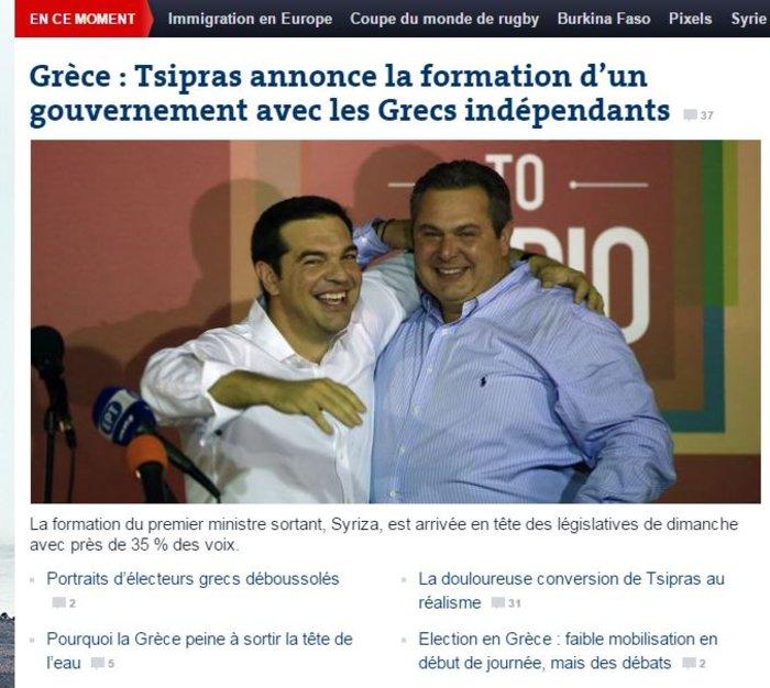 Ξένα ΜΜΕ: Νίκη-θρίαμβος του Αλέξη Τσίπρα - εικόνα 4