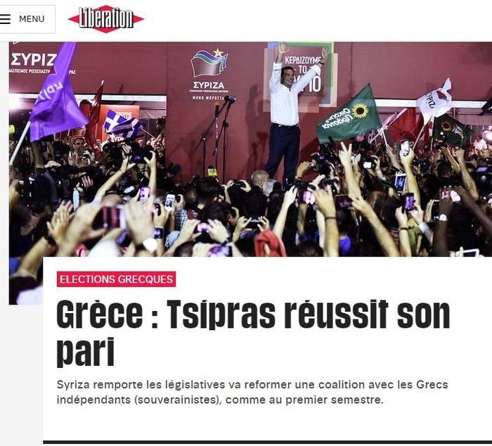 Ξένα ΜΜΕ: Νίκη-θρίαμβος του Αλέξη Τσίπρα - εικόνα 5
