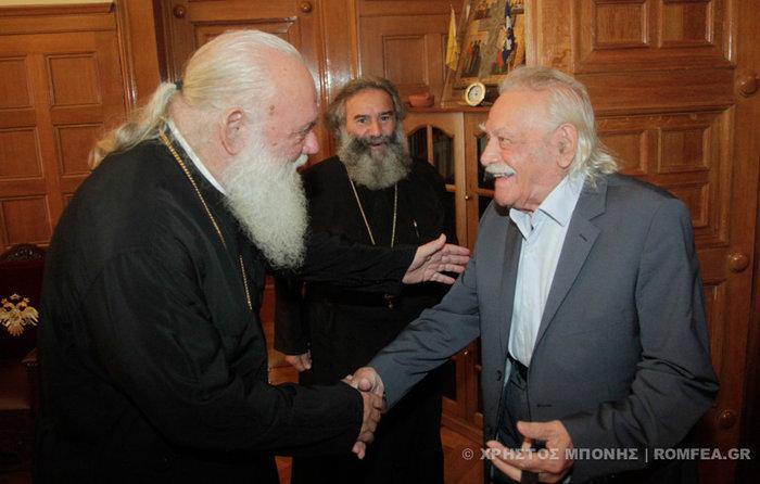 Συνάντηση- εξομολόγηση του Μανώλη Γλέζου με τον αρχιεπίσκοπο Ιερώνυμο