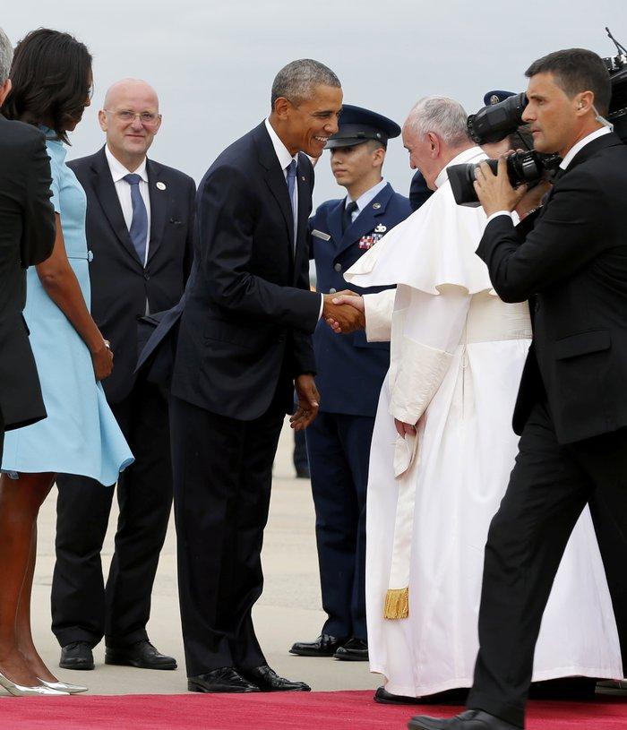 Πρώτη φορά στις ΗΠΑ ο πάπας Φραγκίσκος: η υπόκλιση Ομπάμα - εικόνα 3