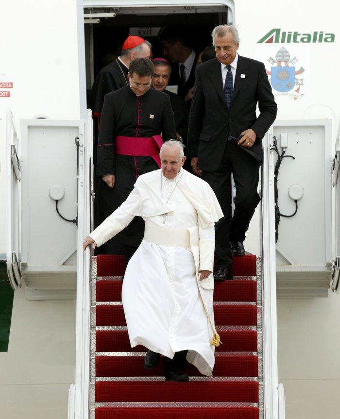 Πρώτη φορά στις ΗΠΑ ο πάπας Φραγκίσκος: η υπόκλιση Ομπάμα - εικόνα 4