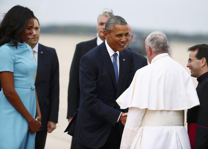 Πρώτη φορά στις ΗΠΑ ο πάπας Φραγκίσκος: η υπόκλιση Ομπάμα - εικόνα 10