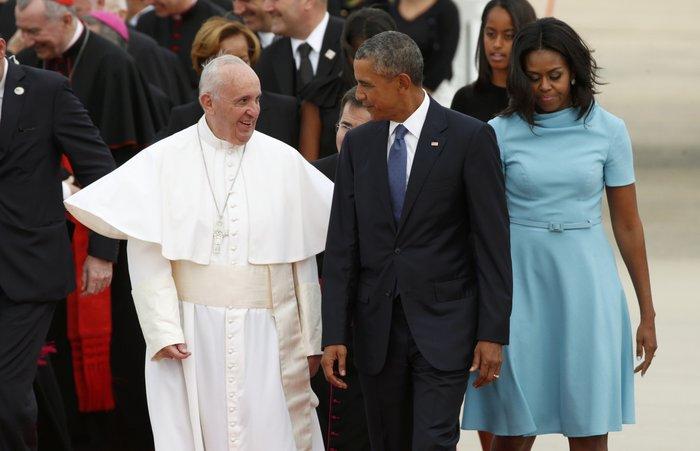 Πρώτη φορά στις ΗΠΑ ο πάπας Φραγκίσκος: η υπόκλιση Ομπάμα - εικόνα 11