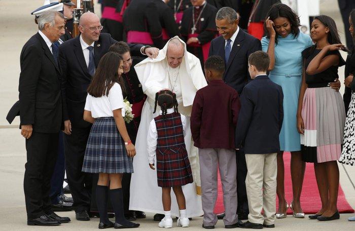 Πρώτη φορά στις ΗΠΑ ο πάπας Φραγκίσκος: η υπόκλιση Ομπάμα - εικόνα 12