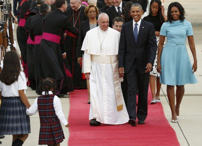 Πρώτη φορά στις ΗΠΑ ο πάπας Φραγκίσκος: η υπόκλιση Ομπάμα - εικόνα 14
