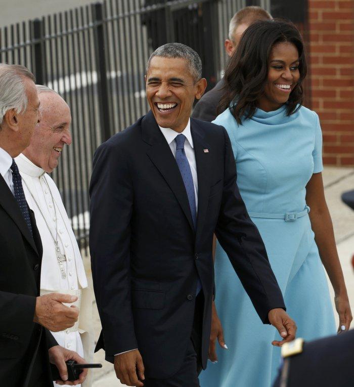 Πρώτη φορά στις ΗΠΑ ο πάπας Φραγκίσκος: η υπόκλιση Ομπάμα - εικόνα 16