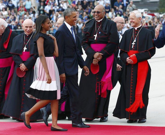 Πρώτη φορά στις ΗΠΑ ο πάπας Φραγκίσκος: η υπόκλιση Ομπάμα - εικόνα 17