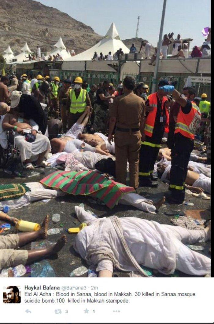 Σκηνές που συγκλονίζουν από την τραγωδία στη Μέκκα [VIDEO]