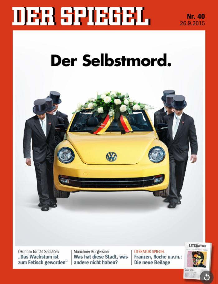 Το Spiegel κάνει την κηδεία της Volkswagen με ένα καυστικό εξώφυλλο