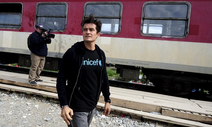 Ο Ορλαντο Μπλουμ στα ελληνικά σύνορα με τους πρόσφυγες - εικόνα 4