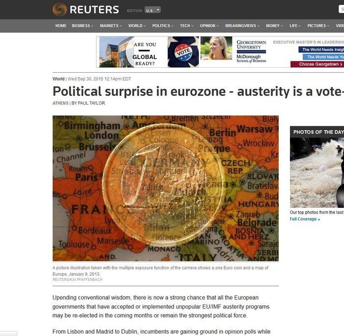 Reuters: Γιατί οι Ευρωπαίοι ψηφίζουν υπέρ των Μνημονίων