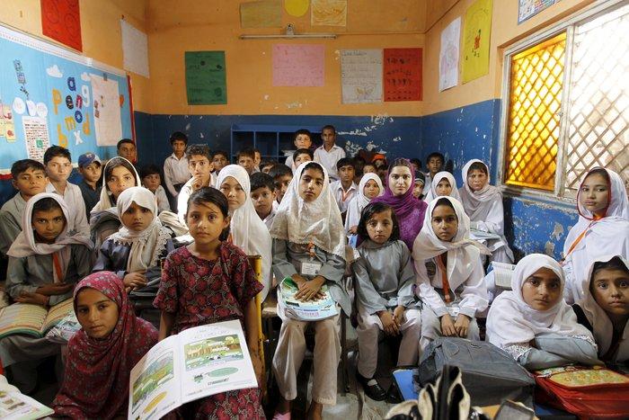 Μαθητές τρίτης τάξης στο Πακιστάν