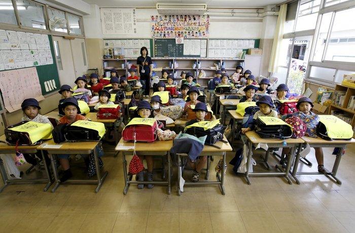 Πρωτάκια σε σχολείο στο Τόκυο
