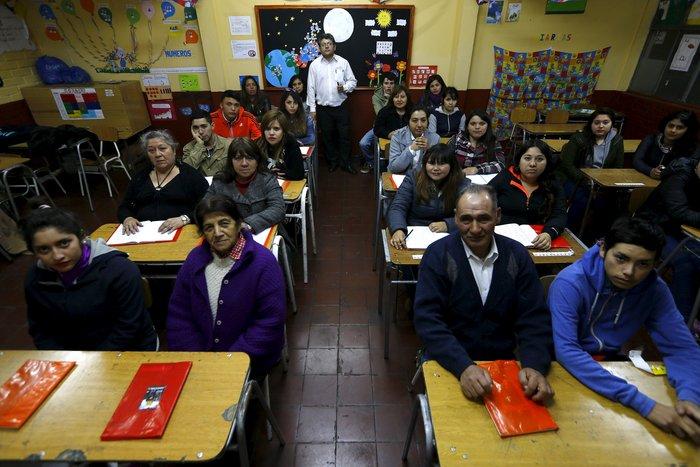 Βραδινό σχολείο στο Σαντιάγο