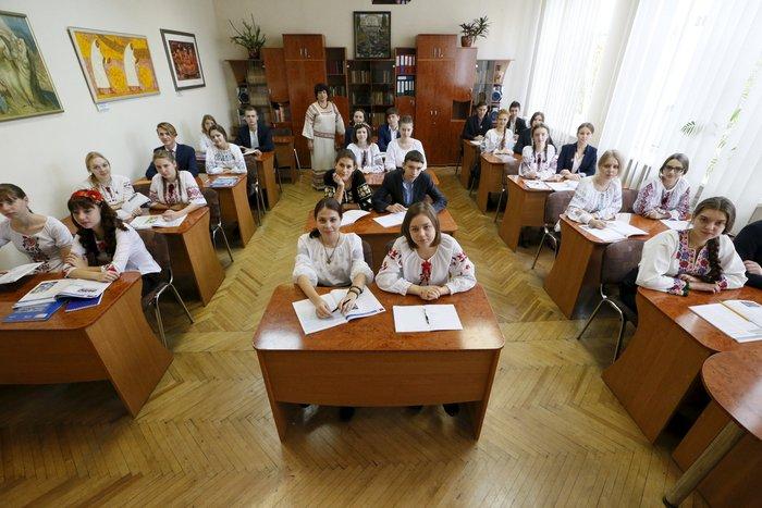 Μαθητές 16-17 ετών στο Κίεβο, στην Ουκρανία.