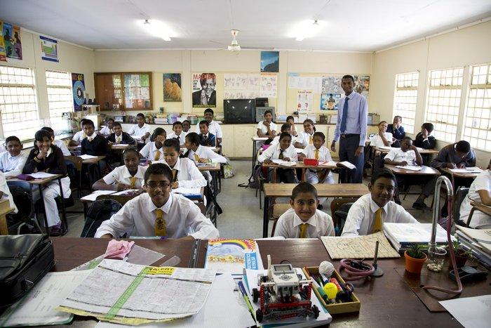 Μαθητές δημοτικού σχολείου στο Ντέρμπαν της Νότιας Αφρικής